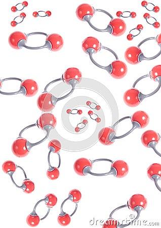 Oxygen molecules - molecular modelling