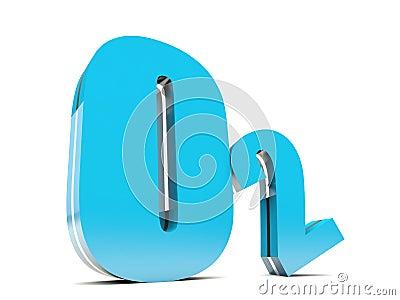 o2 molecule  O2 - Blue Oxygen