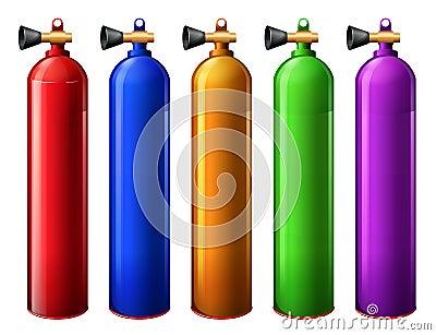 Oxygen tanks