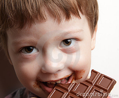 Oy with chocolate