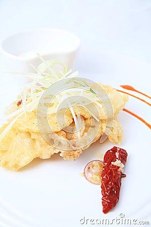Oyster mushroom beignettes food