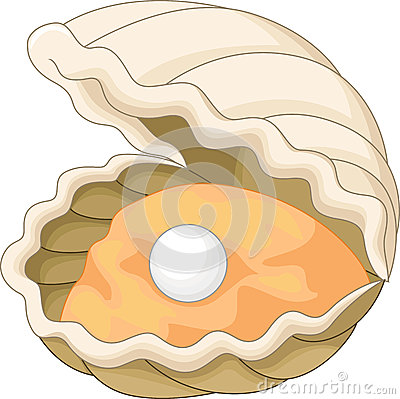 Oyster With A Pearl Stock Vector - Image: 45855969