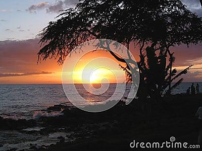 Ozean-Sonnenuntergang