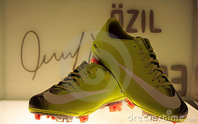 Ozil s shoes Editorial Image