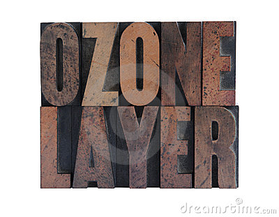 Ozone layer in letterpress wood type