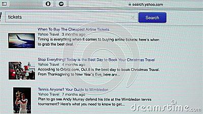 Página de Yahoo Travel