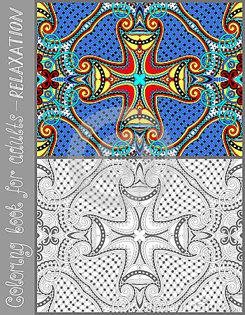 p gina original para adultos flor do livro para colorir ilustra o do vetor imagem 48202183. Black Bedroom Furniture Sets. Home Design Ideas