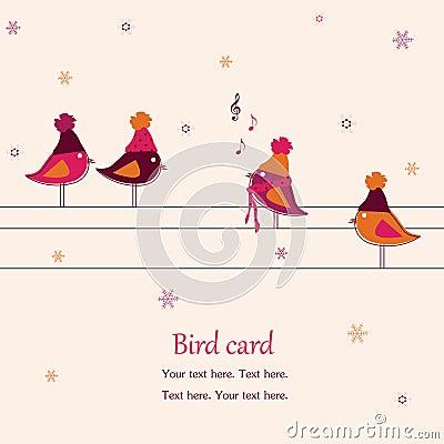 Pájaros, cantando en los alambres