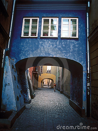 Pátio velho de Varsóvia.