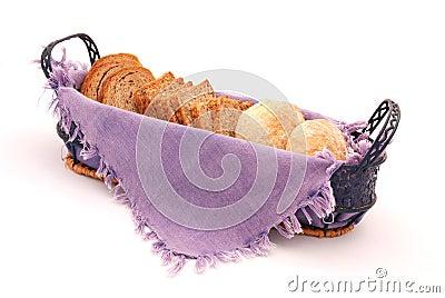 Pão na cesta