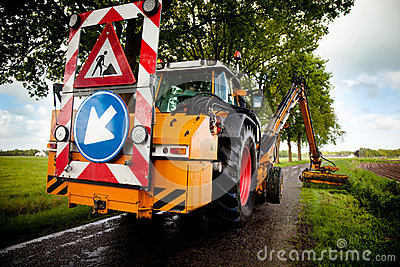 Pågående vägarbete
