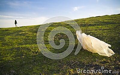 Påseplast-avfalls