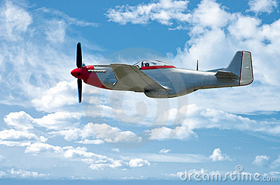 P-51 On Blue
