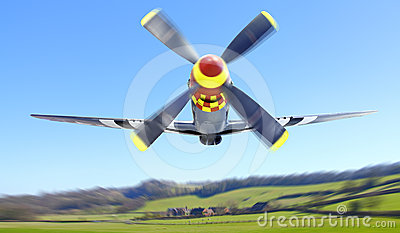 P 51 Mustang fighter plane