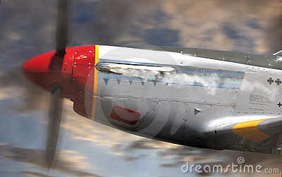 P-51 Mustang in Flight CU