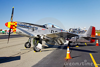 P-51D Mustang Fighter Plane Display Editorial Image