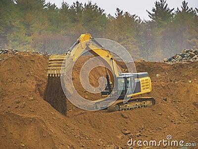 Pá de poder da máquina escavadora