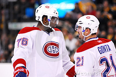 P.K. Subban and Brian Gionta Montreal Canadiens Editorial Photography