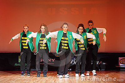 P.L.U.R. group dance at Hip Hop International cup Editorial Image