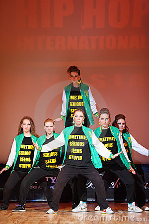 P.L.U.R. team dance at Hip Hop International cup Editorial Stock Photo