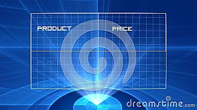 4P Marketing mix hologram stock video