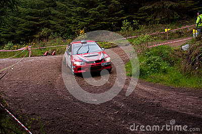 P. O  Connell driving Mitsubishi Evo Editorial Stock Image