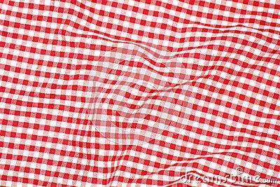 Paño rojo de la comida campestre