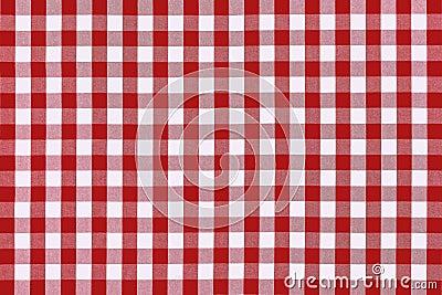Paño rojo detallado de la comida campestre