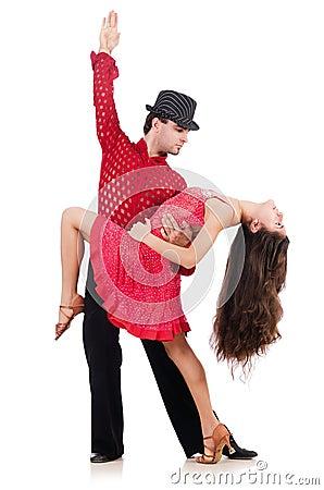 Paar dansers