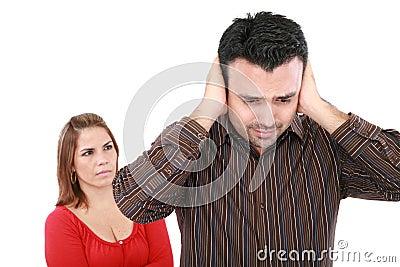 Paar die een argument hebben