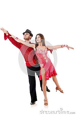 Paar geïsoleerdet dansers