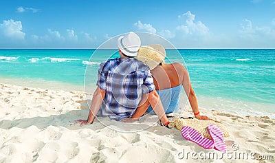 Paar op vakantie