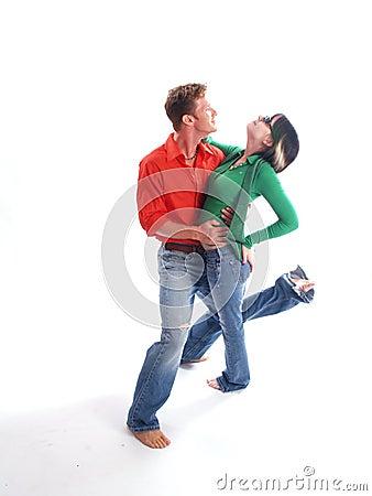 Paar in Rood en Groen