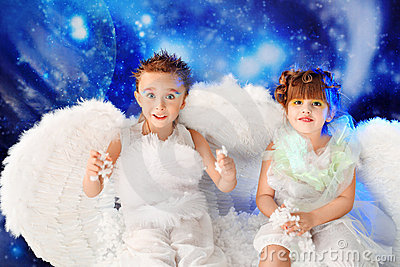 Paar van engelen