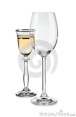 Paar wijnglazen