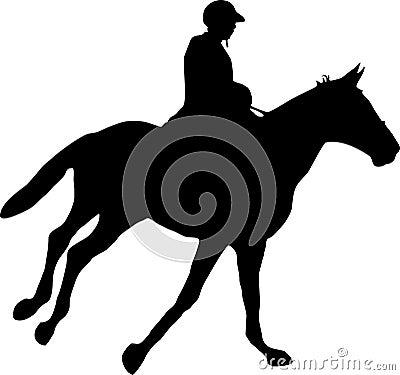 Paard en jockey