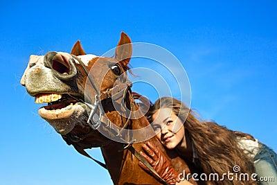 Paard met een betekenis van humeur