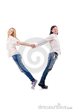 Paare der Mannfrau