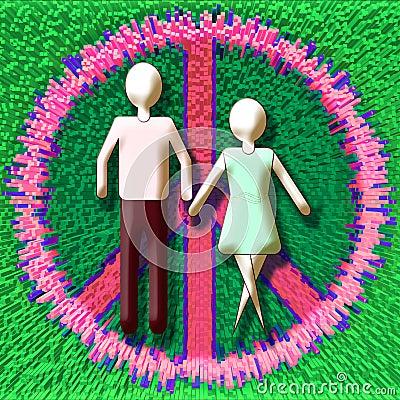 Paare im Frieden