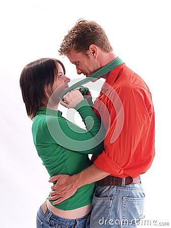 Paare im Rot und im Grün
