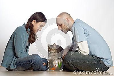 Paare mit ihren Haustieren