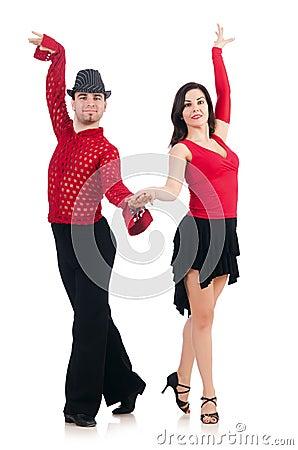 Paare Tänzer lokalisiert