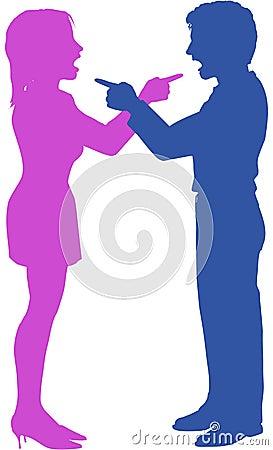 Paare Yell-Punktkampf im Argument