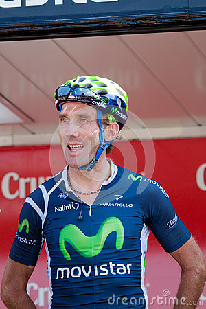 Pablo Lastras at the Vuelta 2012 Editorial Photography