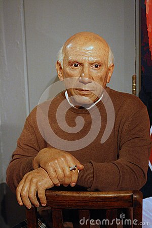 Pablo Picasso wax figure Editorial Stock Photo