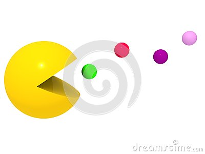 Pac Man in action Editorial Stock Photo