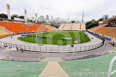 Pacaembu Soccer Stadium Sao Paulo Editorial Stock Image