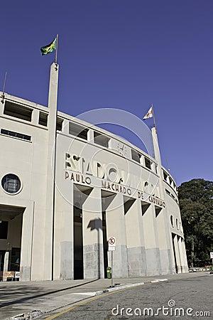 Pacaembu stadium - São Paulo - Brazil Editorial Image