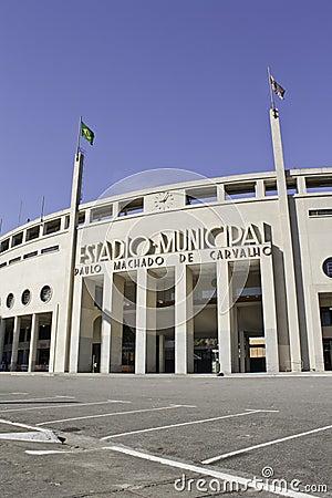 Pacaembu stadium - São Paulo - Brazil Editorial Photo