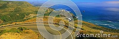 Pacific Coast Highway and ocean, CA